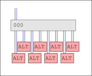 Single multiplexer, 8 devices